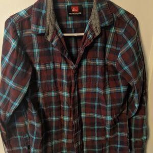 Quicksilver men's flannel size small